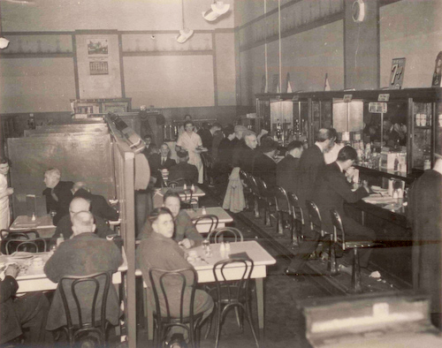 Interior of the Panama Café, 1945 (Photo courtesy of Anthony Chan).